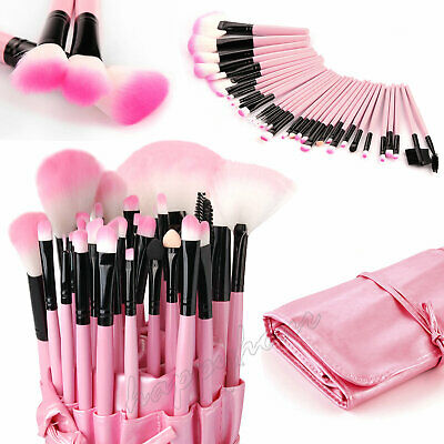 Professional 32 Pcs Kabuki Make Up Brush Set and Cosmetic Brushes With Case City