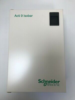 SCHNEIDER DIST BOARD ACTi 9 2 WAY ISOBAR METAL CLAD + 125a ISOLATOR SEA9AN2 (SS)