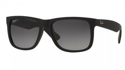 RayBan Justin Classic POLARIZED Sunglasses - Black Grey Gradient RB4165 54-16
