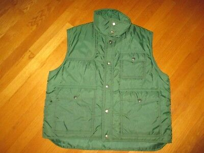 Men's Vintage 70's Sigallo Hunter Green Ski Vest Size XL