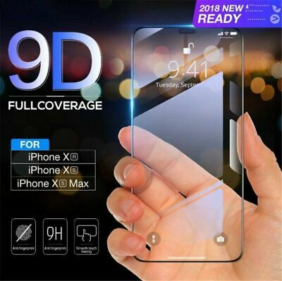 9D Curved Film Tempered Glass Screen Protector Cover for iPhone Xs, Xr, Xs MAX