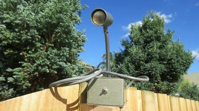 1960's Circa Retro Metalic Grey Painted Industrial Box lamp with a Microphone Lo