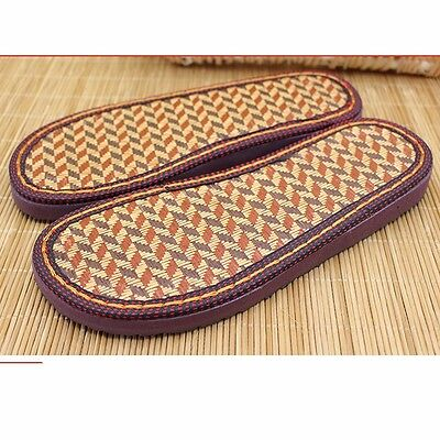 Men Women Vintage Slipper Sole Shoe Making Woven Sew On Replacement Repair 36-47