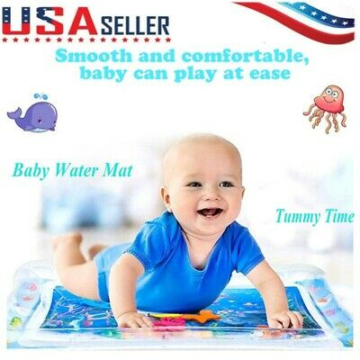 Inflatable Baby Water Play Mat Fun Activity Center Tummy Time Children Infant US
