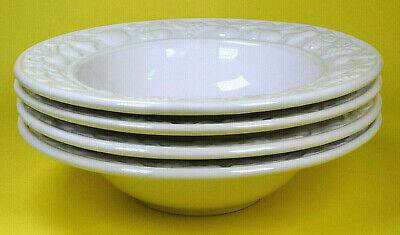 "Marks And Spencer (St Michael) Embossed Fruit Four 8"" Cereal / Dessert Bowls"