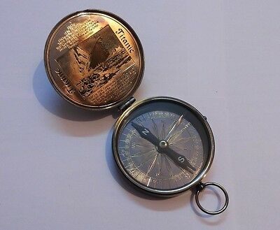 Antique Vintage Nautical Brass Pocket Titanic Compass 3 Inches Collectible