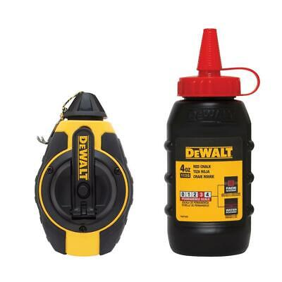 Dewalt 3:1 Chalk Line Measuring Reel with Red Chalk DWHT47374L