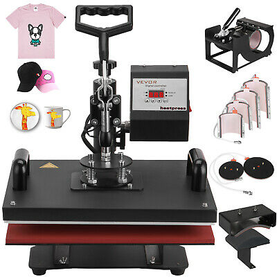 9 In 1 Digital Heat Press Machine Sublimation For T-Shirt/Plate Printer Updated