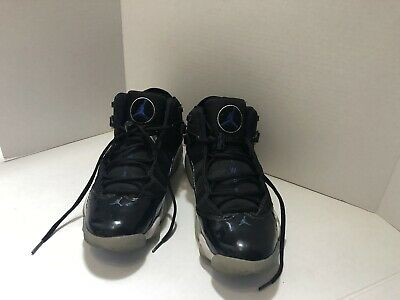 e807672060dfa JORDAN 6 RINGS Space Jam Black Hyper Royal Blue Shoes 322992-016 Sz 10