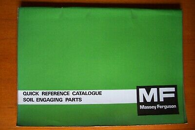 Massey Ferguson Soil Engaging Parts Quick Reference Catalogue.