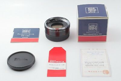 【UNUSED NEW】 Zenza Bronica Tele Converter G 1.4x for GS-1 Caps From Japan C113
