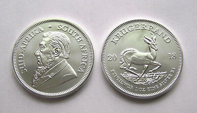 2018 South Africa 1 Troy oz Silver Krugerrand Brilliant Uncirculated