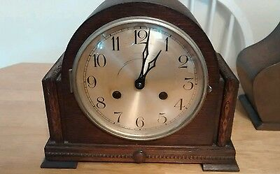 Nice  8 day Mantel chime clock. Parts or Repair (nice case)