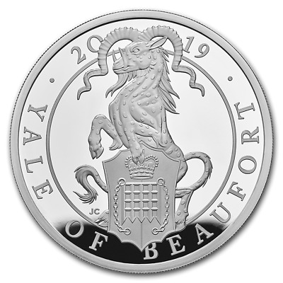 2019 GB Queen's Beast Collection The Yale 1oz Silver Capsuled PF Coin W/OMP/COA