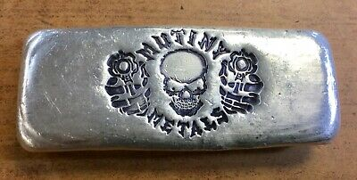 MUTINY METALS RARE 3 oz SILVER HAND POURED BAR .999 SERAL NUMBER 001!