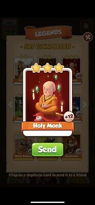 Coin Master Cards Holy Monk. Instant Delivery!!!