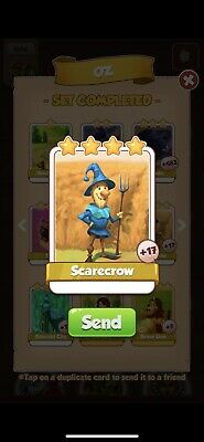 Coin Master Cards Scarecrow. Instant Delivery!!!