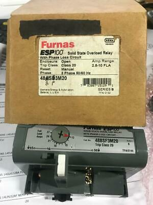 Furnas 48BSF3M20 ESP100 solid state overload relay 2.8-10 fla OBSOLETE