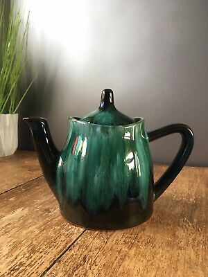 Stylish Retro Blue Mountain Pottery Dripglaze Teapot Bmp Made In Canada Vintage