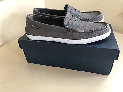 c70dca386ab9 Cole Haan Pinch Weekender Canvas Loafer - Men s 11.5 M Gray Grey Magnet  Canvas