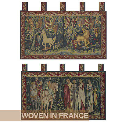Unicorn Lion Knights Medieval French Tapestry Wall Hanging Woven William Morris