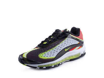 0969c82922 NIKE AIR MAX Deluxe Black Volt Habanero Red White AJ7831-003 Msrp ...