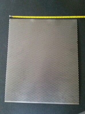 """1/8"""" HOLES 18 GAUGE 304 STAINLESS STEEL PERFORATED SHEET approx 12 x 10"""