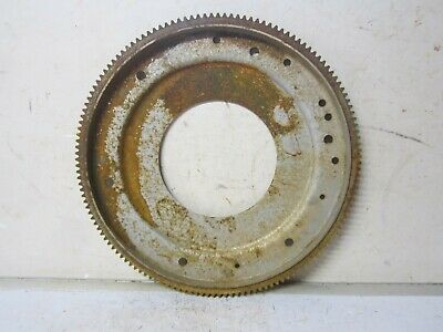 "Vintage Large 14 1/4"" Rusty Metal Steel Flywheel Ring Gear Industrial Steampunk"