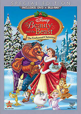 Beauty and the Beast: An Enchanted Christmas (Blu-ray/DVD, 2011 W/SLIPCOVER