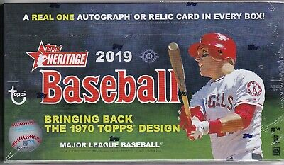 2019 Topps Heritage Hobby Box Factory Sealed