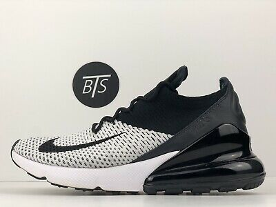 """new style 5842a 19d78 MEN'S NIKE AIR Max 270 Flyknit """"Oreo"""" Size-8.5 Black White (AO1023 100)"""