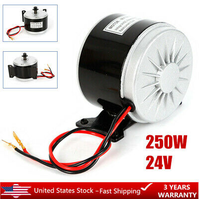 250W 24V ELECTRIC Motor Brushed 2750RPM For E Bike Scooter Go Kart
