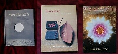 Lot of 3 Metaphysical Books magick Incense Meditation rituals