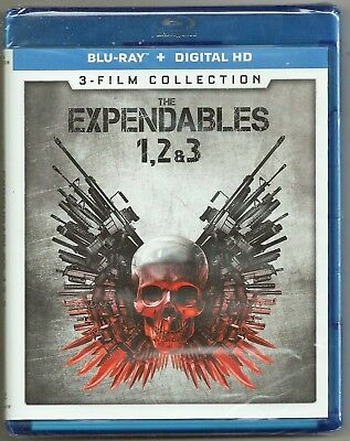 The Expendables 1, 2 & 3 (Blu-ray + Digital HD) 3-Film Collection BRAND NEW