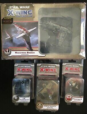 LOT STAR WARS X-WING MINIATURES GAME ENGLISH VERSION resistance bomber M12-L tie
