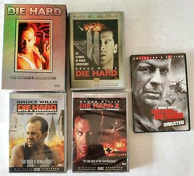 Die Hard (DVD 6-Disc Set, Ultimate Collection)-Live Free or Die Hard Unrated DVD