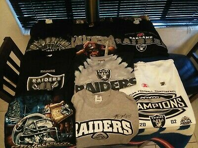 a8d9af01014 Lot of 10 Vintage rare Oakland Raiders NFL gear 1 jersey 8 T Shirts   1