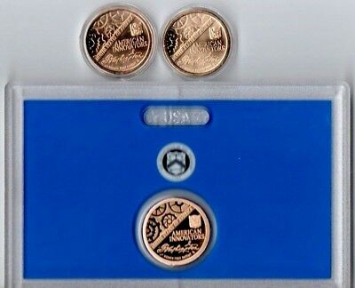 2018-P-D-S American Innovation $1 Coin In Air-Tite Holders & In Us Mint Holder