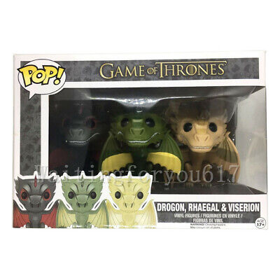 Funko Pop Game of Thrones Exclusive Dragons 3 PACK Drogon Rhaegal & Viserion