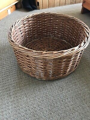Large Log Basket Round Wicker