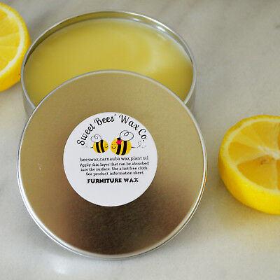 LEMON FURNITURE SOFT Paste Wax 12oz Homemade Beeswax Finish Painted & Bare  Wood