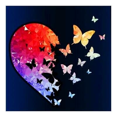 5D DIY Full Drill Diamond Painting Butterfly Heart Cross Stitch Embroidery DECOR