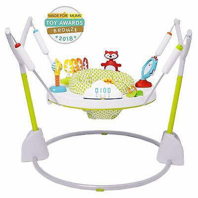 Skip Hop Explore & More Jumpscape Fold-Away Baby Jumper with Bounce Counter, Mul