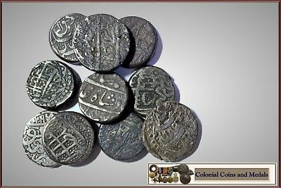 Afghanistan :- 19th Century or Earlier? Silver Rupee's group of 10