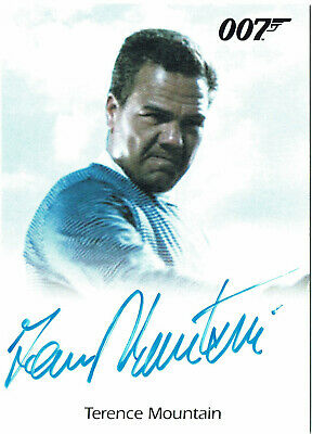 James Bond Archives 2014 Autograph Card Terence Mountain as Raphael