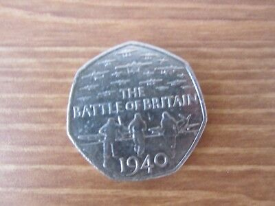 50p Fifty Pence Coin - Battle Of Britain (2015) - circulated
