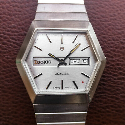 "Rare Zodiac Automatic ""Red Dot"" - Volvo - Day Date ETA 2879 - Original bracelet"