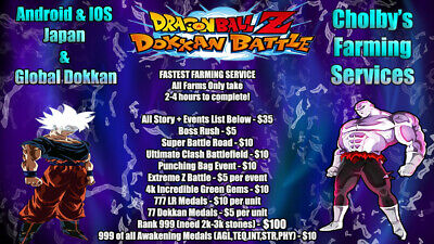 DOKKAN BATTLE FULL Farming Service Lots of Options