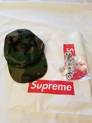 1a68769725541 SUPREME Fall Winter 2018 NEW 6 Panel Supreme Woodland Camo Hat NWT + Extras