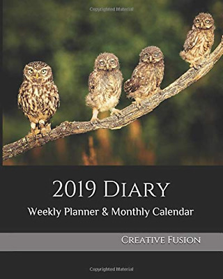 2019 Diary: Weekly Planner & Monthly Calendar - Desk Diary,  PAPERBACK NEW BOOK